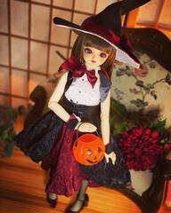Ball-Jointed Doll Halloween Portrait