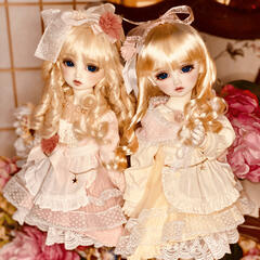 Ball-Jointed Doll Twin Portrait